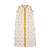 Meyco Dots baby slaapzak zomer 70 cm okergeel, Oker