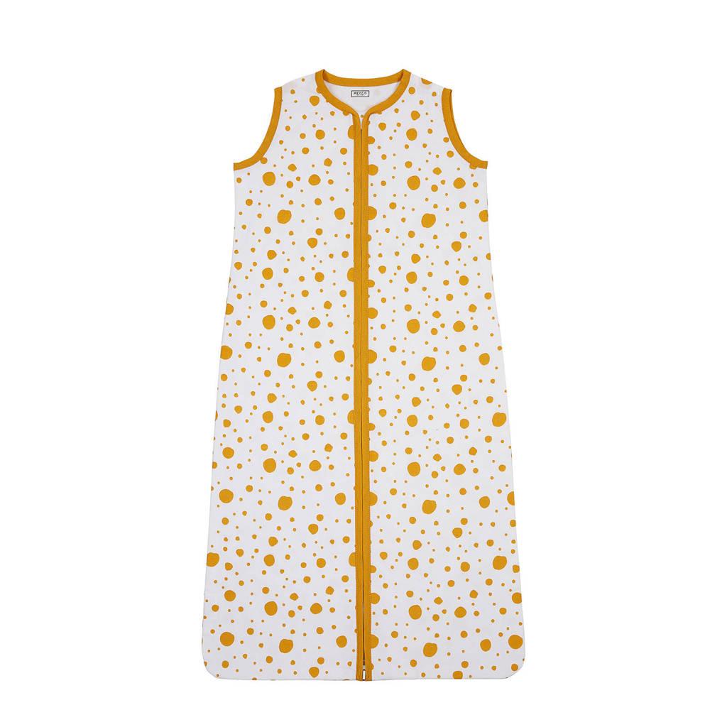 Meyco Dots baby slaapzak zomer 90 cm okergeel, Oker