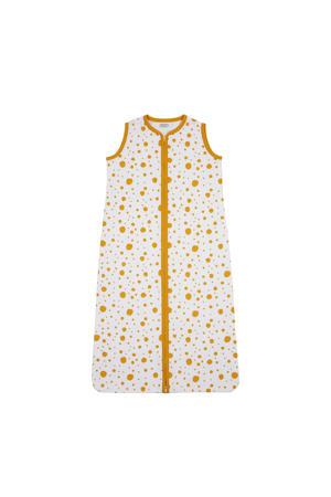 Dots baby slaapzak zomer 90 cm okergeel