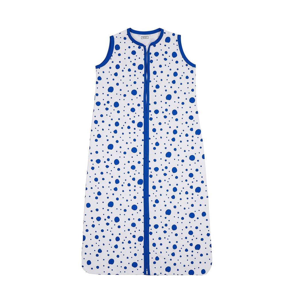 Meyco Dots baby slaapzak zomer 70 cm bright blue, Blauw