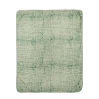 Meyco Fine lines hydrofiele deken 120x120 cm groen, Groen