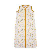Meyco Dots baby slaapzak zomer 110 cm okergeel, Oker