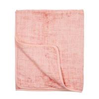 Meyco Fine lines hydrofiele deken 120x120 cm okergeel, Roze