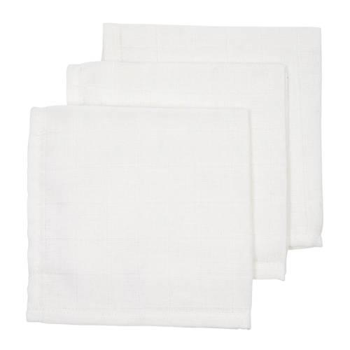 Meyco hydrofiele monddoekjes (set van 3) 30x30 cm uni wit