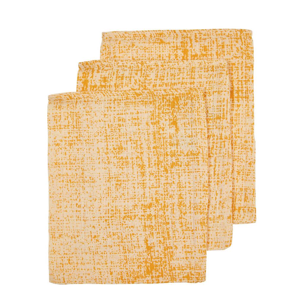 Meyco hydrofiel washandje - set van 3 okergeel, Okergeel