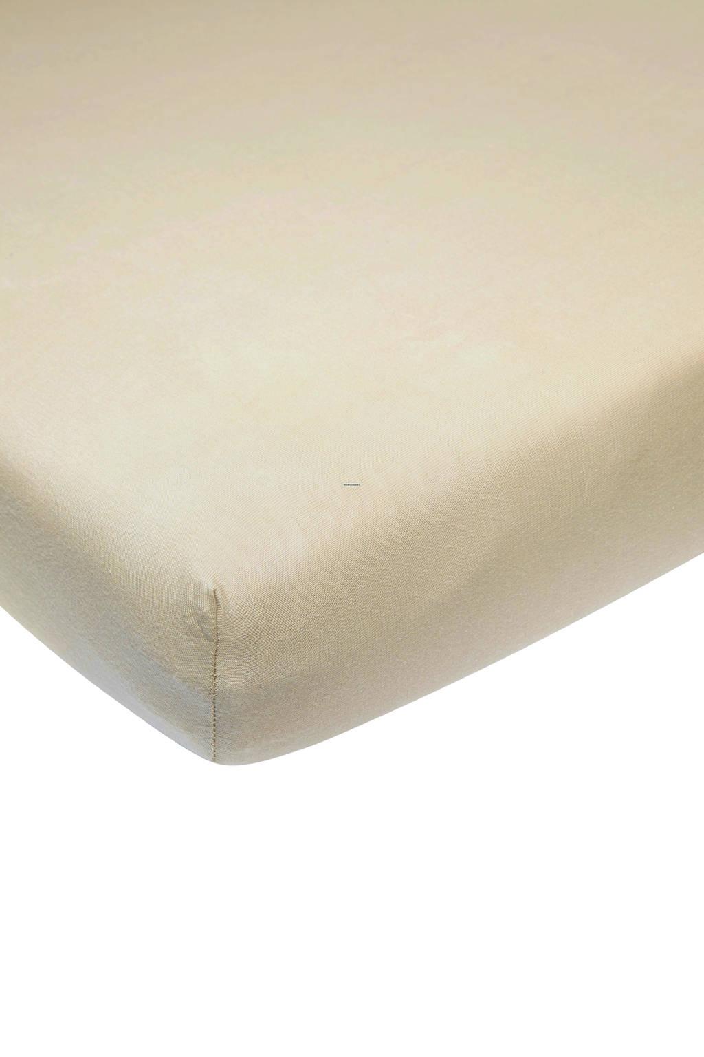 Meyco katoenen jersey hoeslaken wieg 40x80/90 cm Zand
