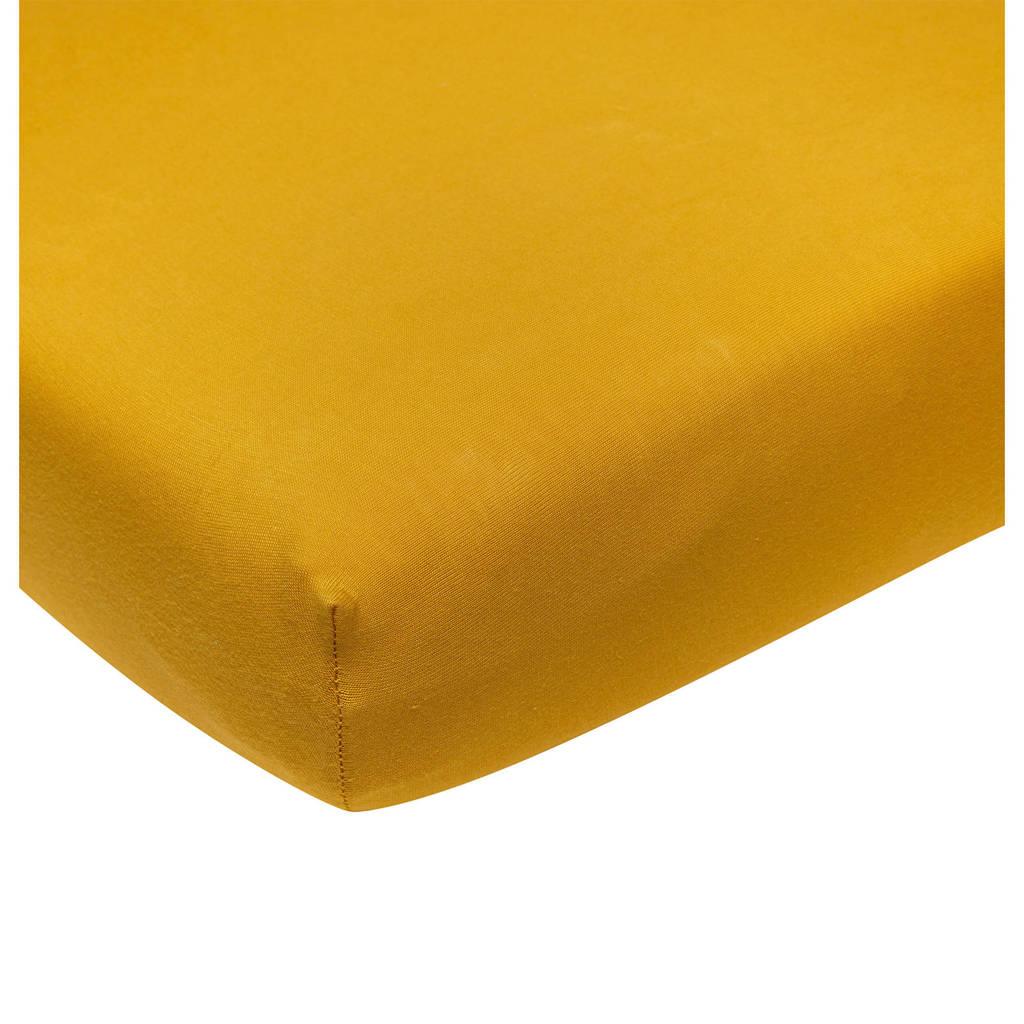 Meyco katoenen jersey hoeslaken wieg 40x80/90 cm Okergeel