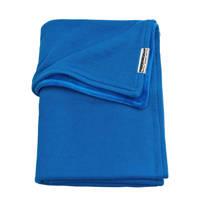 Meyco Knit Basic baby ledikantdeken met velours 100x150 cm bright blue, Bright Blue