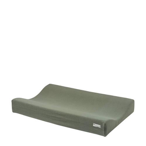 Meyco Knit Basic aankleedkussenhoes 70x45 cm forrest green