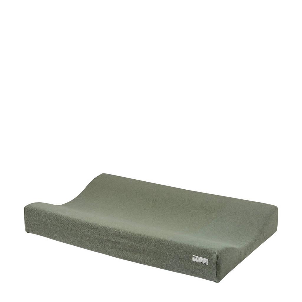 Meyco Knit Basic aankleedkussenhoes 70x45 cm forrest green, FORREST GREEN
