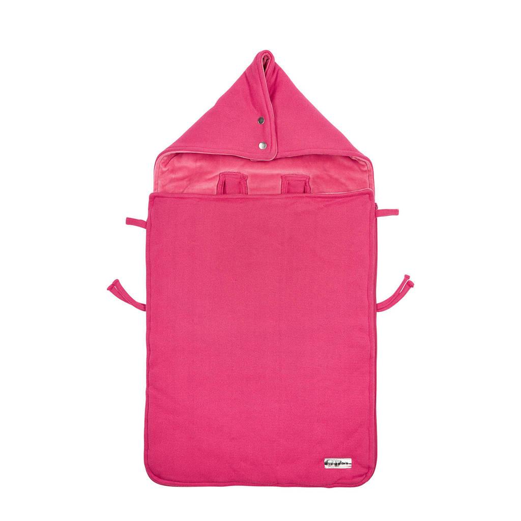 Meyco Knit Basic voetenzak bright pink, Bright Pink