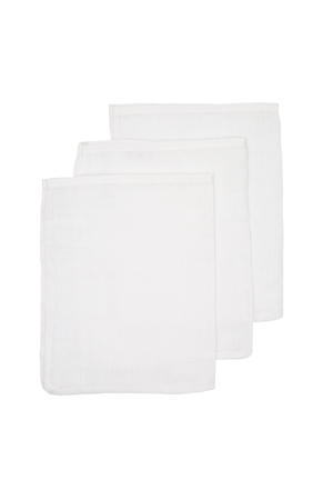 hydrofiele washandjes (set van 3) uni wit