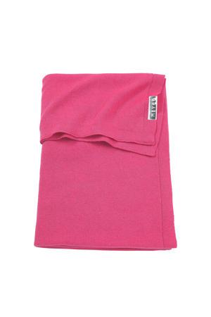 Knit Basic baby ledikantdeken 100x150 cm bright pink
