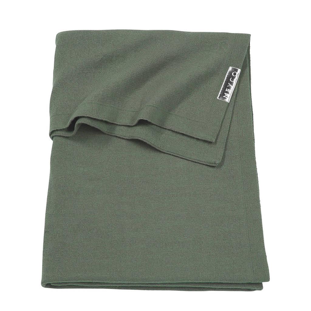 Meyco Knit Basic wiegdeken 75x100 cm forest green