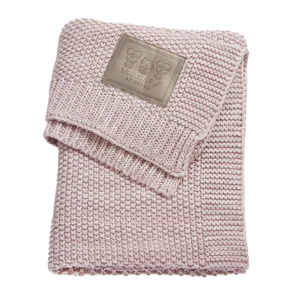 by Meyco ledikantdeken 100x150 cm roze, Roze