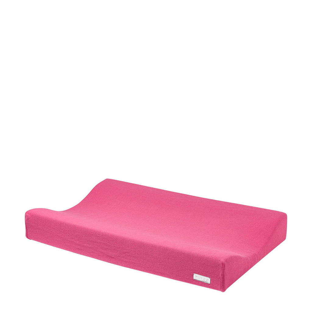 Meyco Knit Basic aankleedkussenhoes 70x45 cm bright pink, Bright Pink