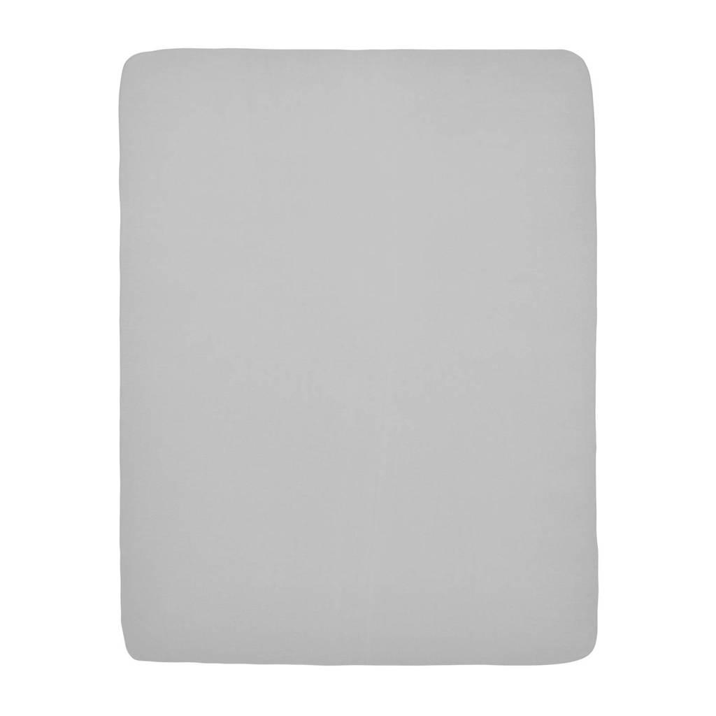 Meyco hoeslaken boxmatras 75x95 cm lichtgrijs