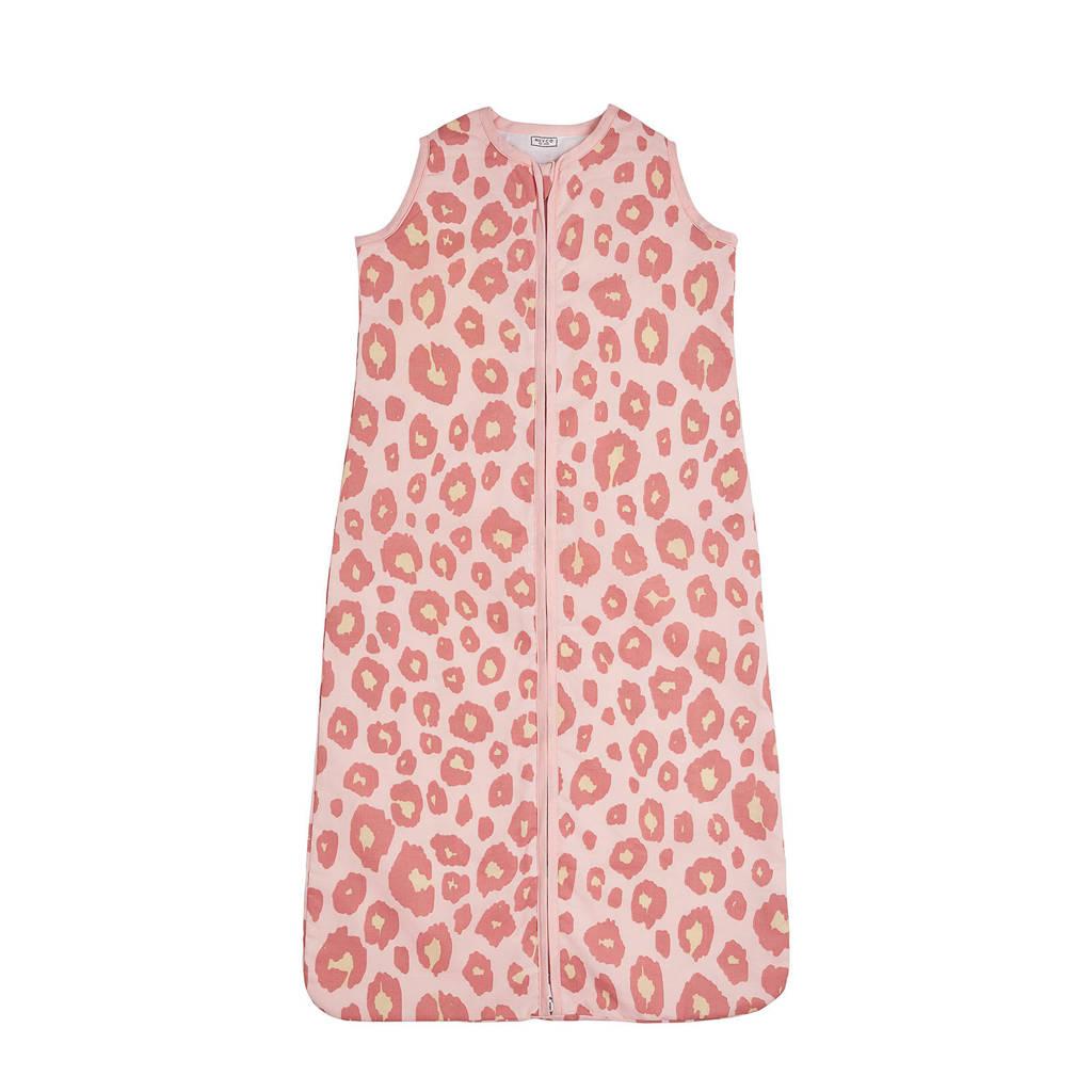 Meyco Panter baby slaapzak zomer 110 cm roze, Roze