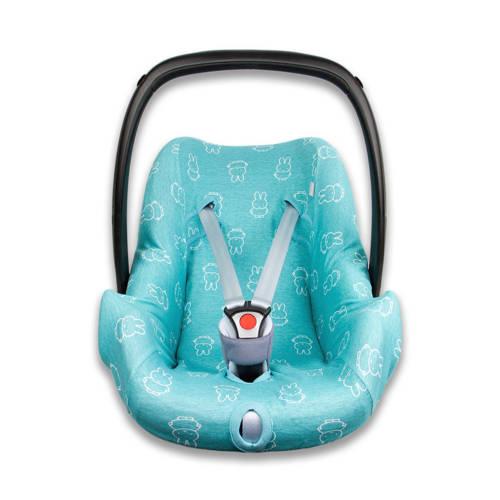 nijntje autostoelhoes 0+ interlock smile turquoise