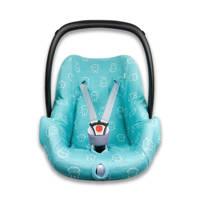 nijntje autostoelhoes 0+  interlock smile turquoise, Turquoise
