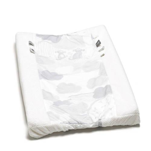 Snoozebaby aankleedkussenhoes 75x45 cm wit/lichtgrijs kopen