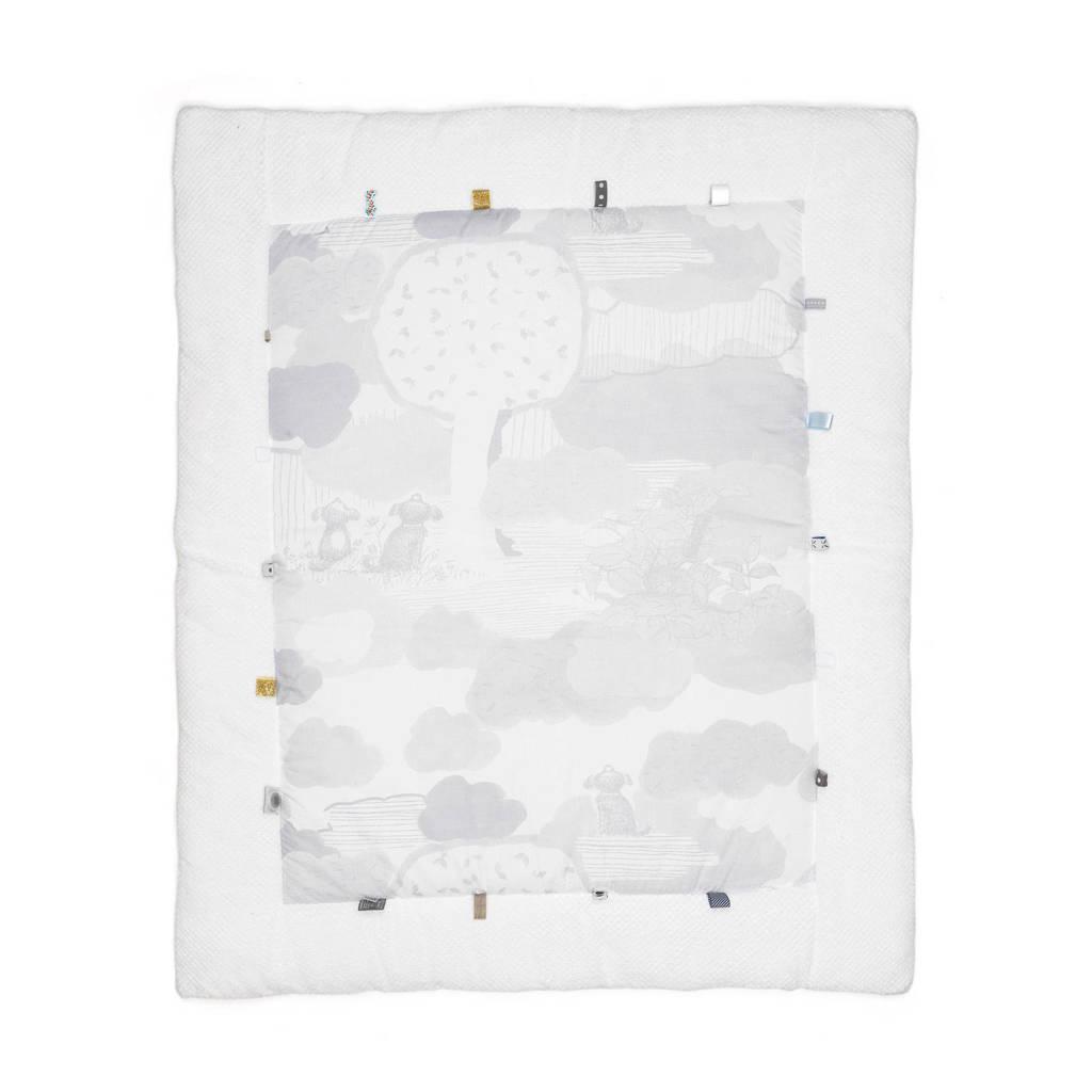 Snoozebaby Cheerful Playing box-/speelkleed 75 x 95 cm star white, Wit