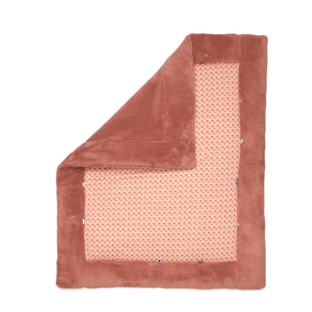 Snoozebaby Cheerful Playing box-/speelkleed 75 x 95 cm dusty rose, Rood