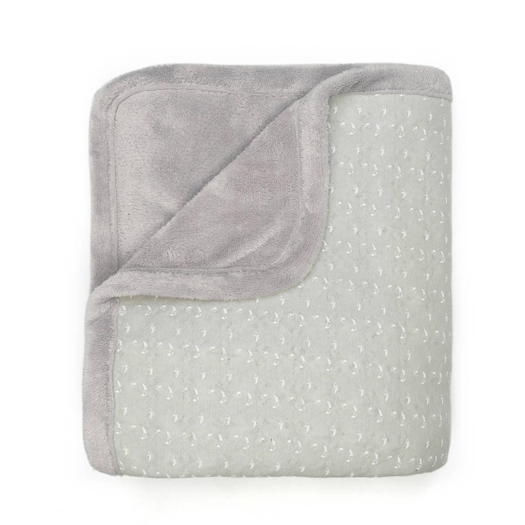 Snoozebaby Cocooning ledikantdeken 100x150 cm lovely grey, Grijs
