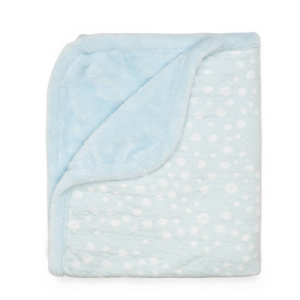 Snoozebaby Cocooning ledikantdeken 100x150 cm blauw, Lichtblauw