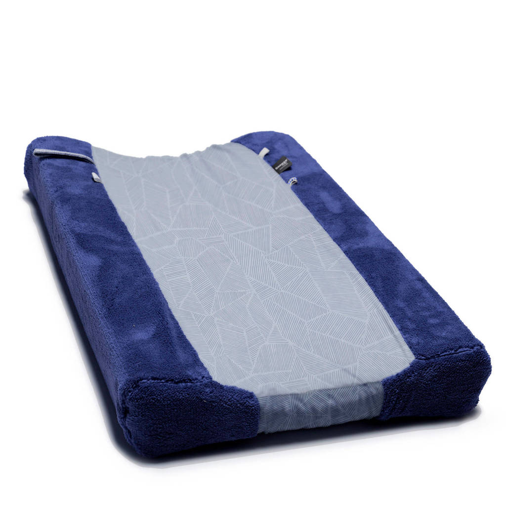 Snoozebaby aankleedkussenhoes 75x45 cm donkerblauw, Donkerblauw