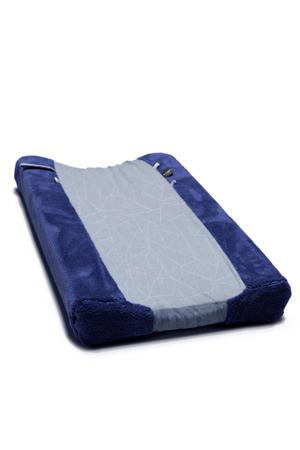 aankleedkussenhoes 75x45 cm donkerblauw