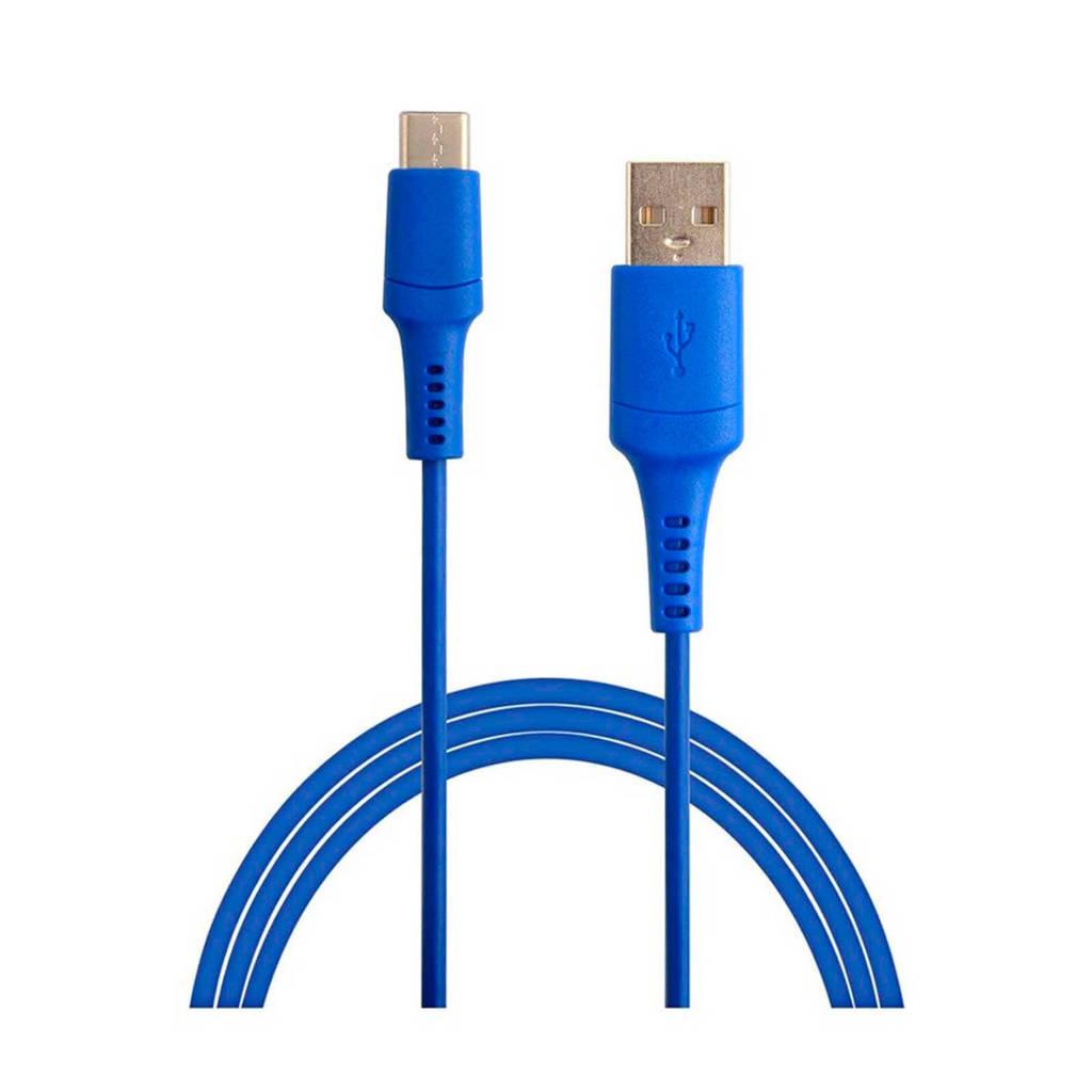 Temium USB C kabel, Blauw