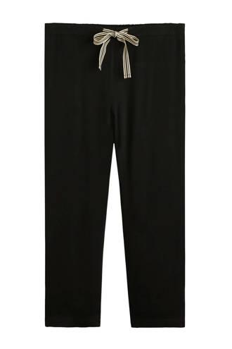 broek straight fit met high waist