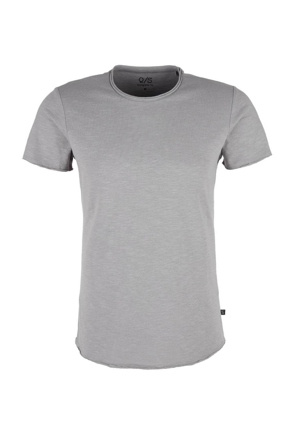 Q/S designed by basic T-shirt, Grijs