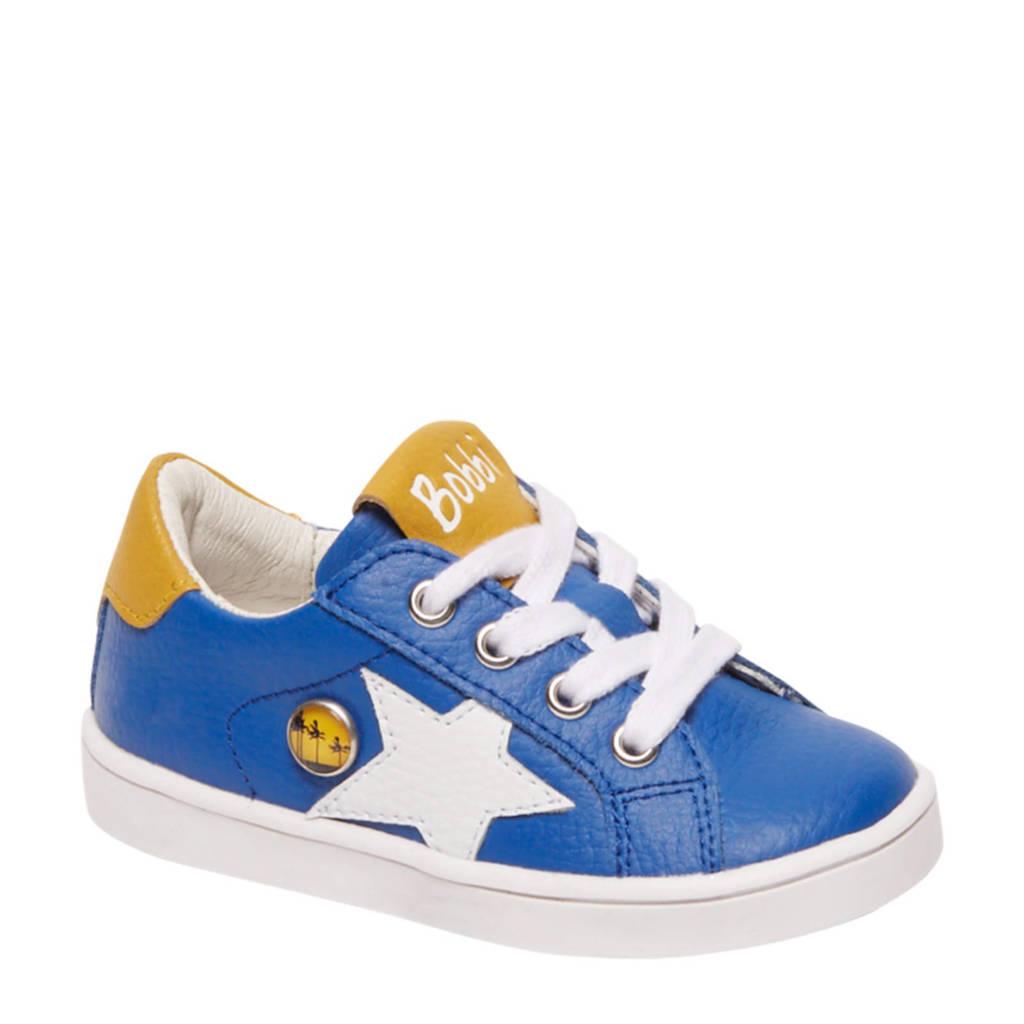 Bobbi-Shoes   leren sneakers blauw, Blauw
