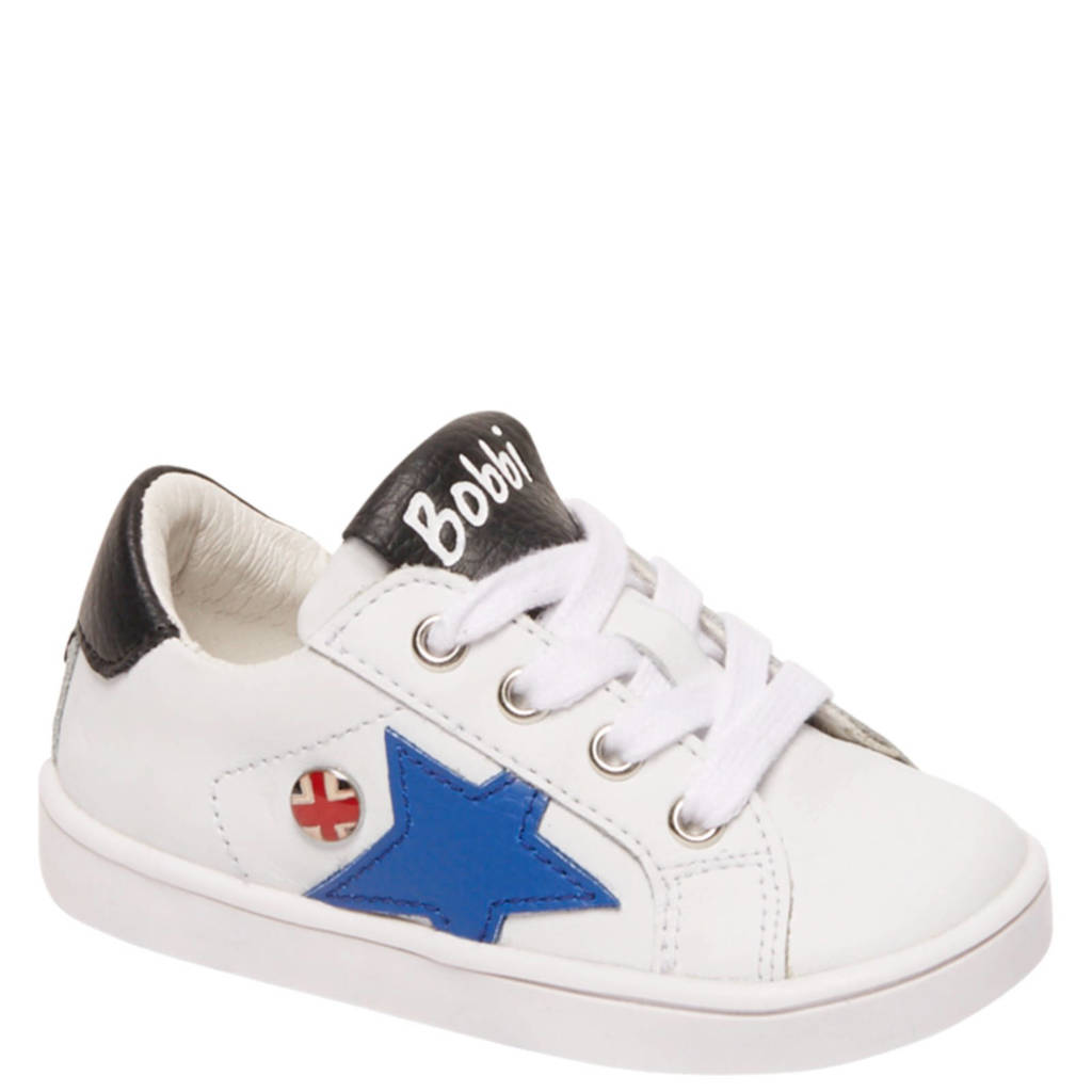 Bobbi-Shoes   leren sneakers wit, Wit