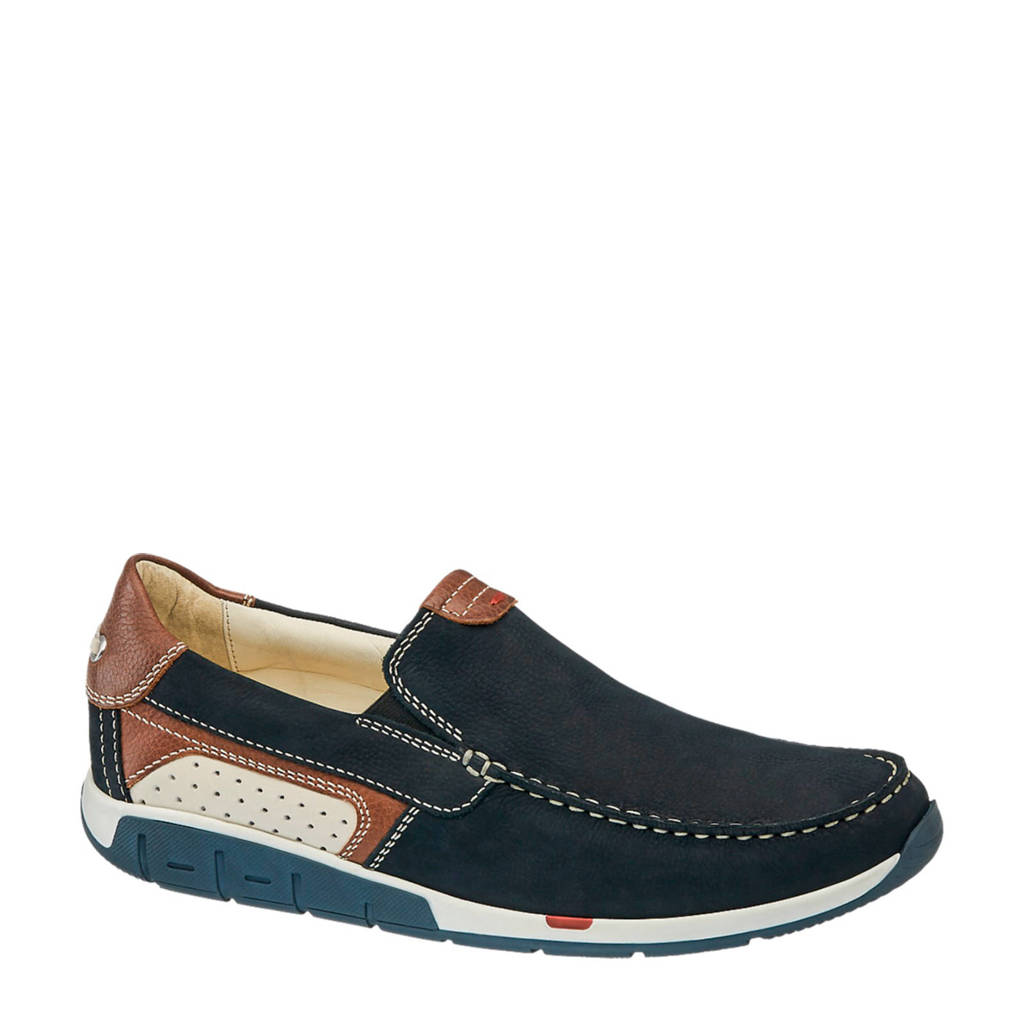 Am Leren Shoe Shoe Donkerblauw Am Instappers xH8ZP