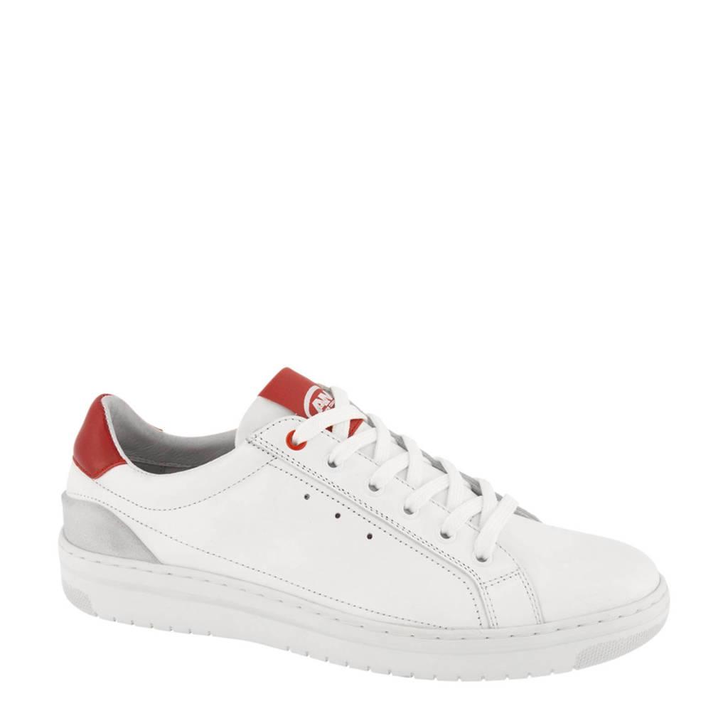 AM SHOE  leren sneakers wit/rood, Wit/rood