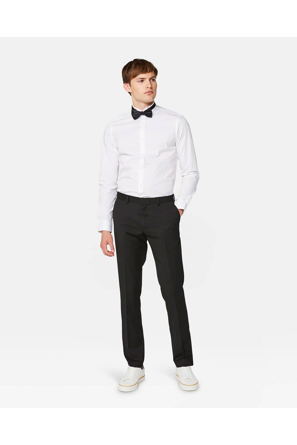 WE Fashion slim fit overhemd white uni, White Uni