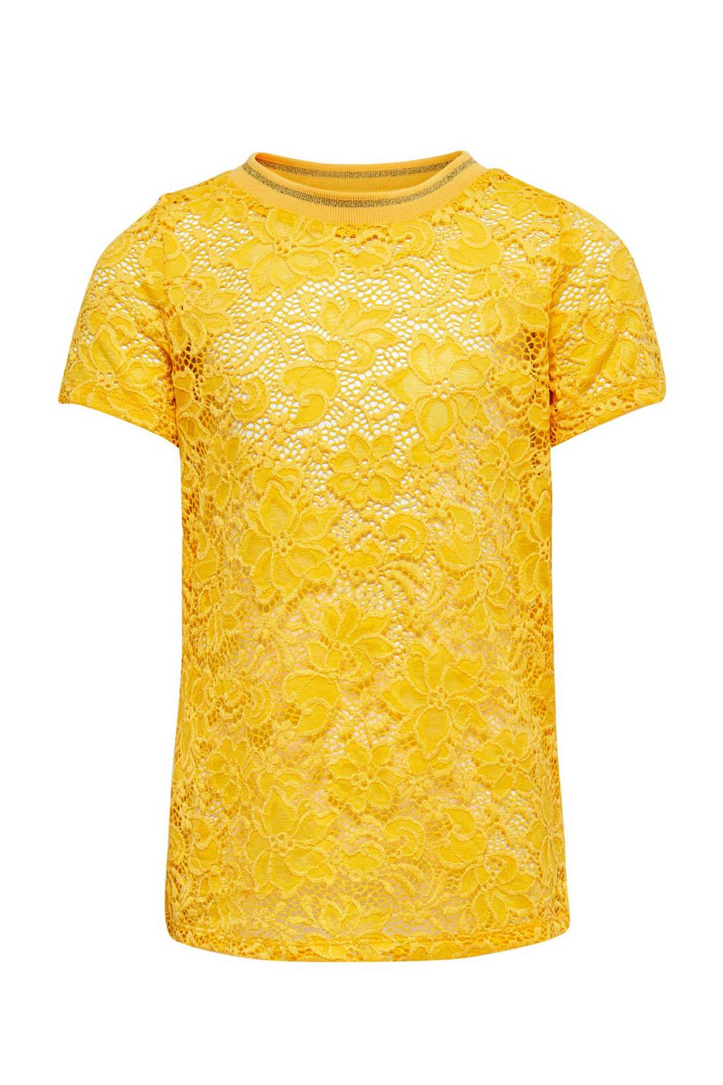 KIDSONLY kanten top Amaze geel, Geel