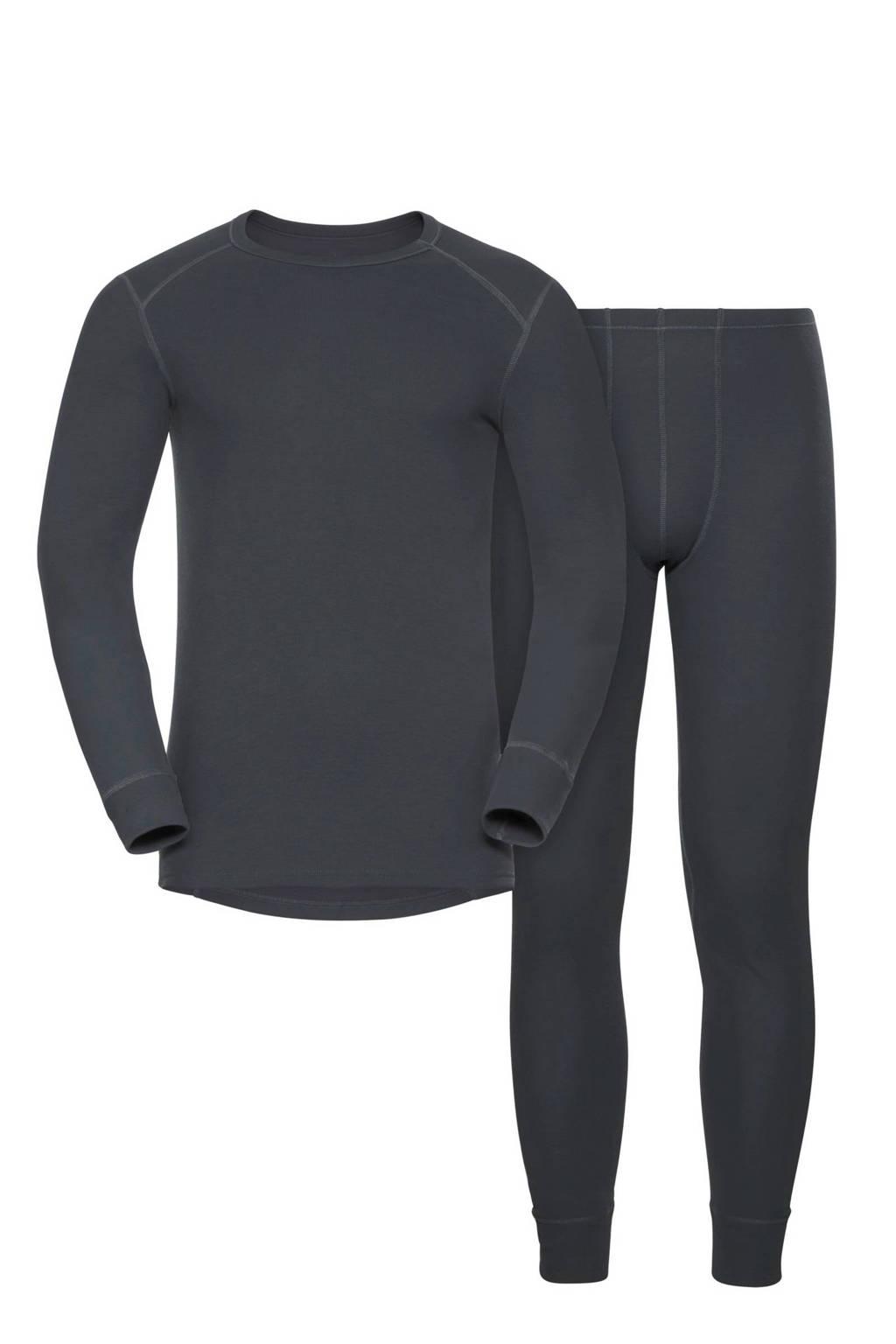 Odlo thermoshirt + broek, Antraciet