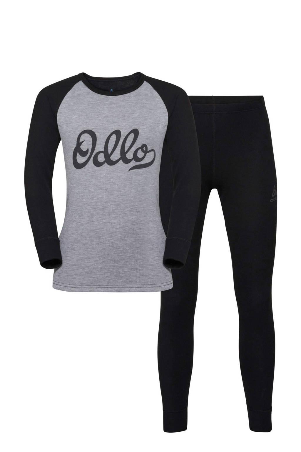 Odlo thermoshirt + broek, Zwart/grijs