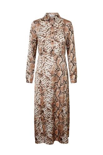 jurk met slangenprint