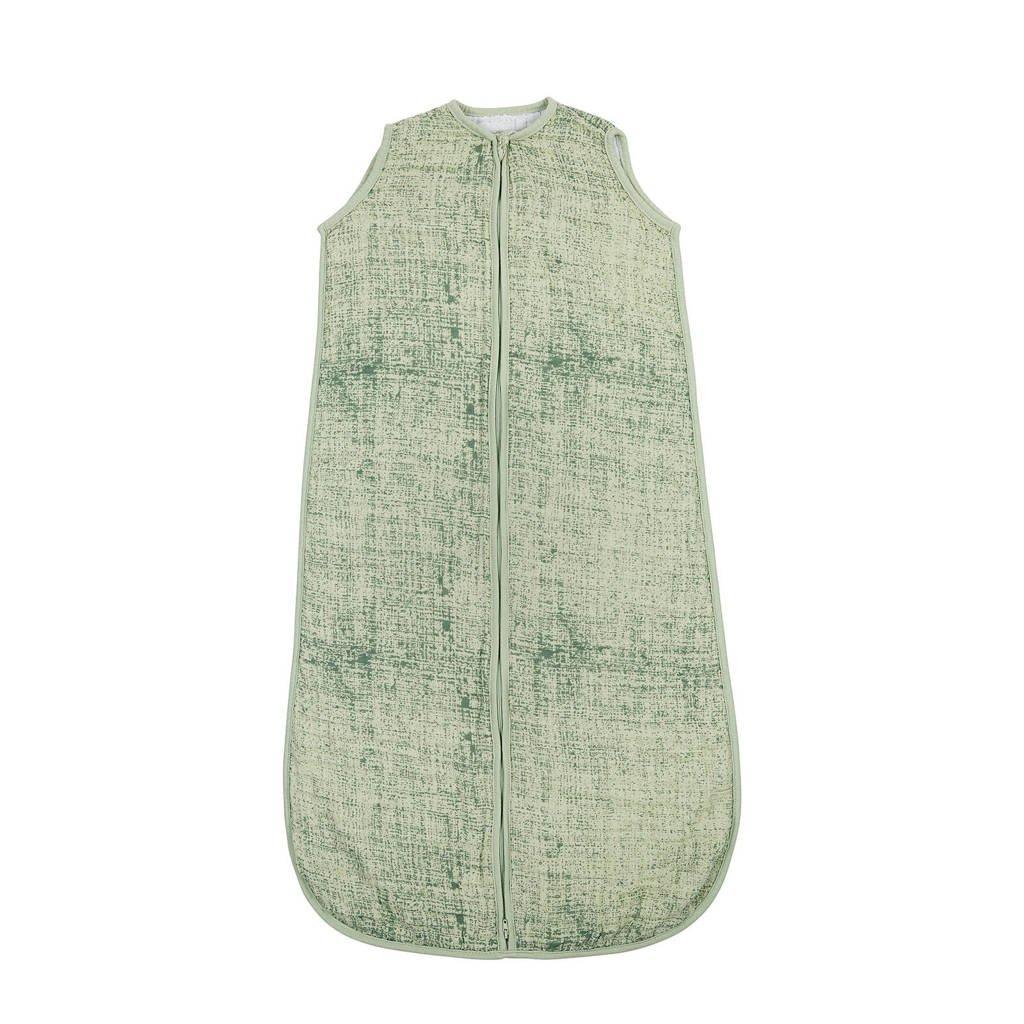 Meyco Fine lines hydrofiele baby slaapzak 110 cm groen, Groen
