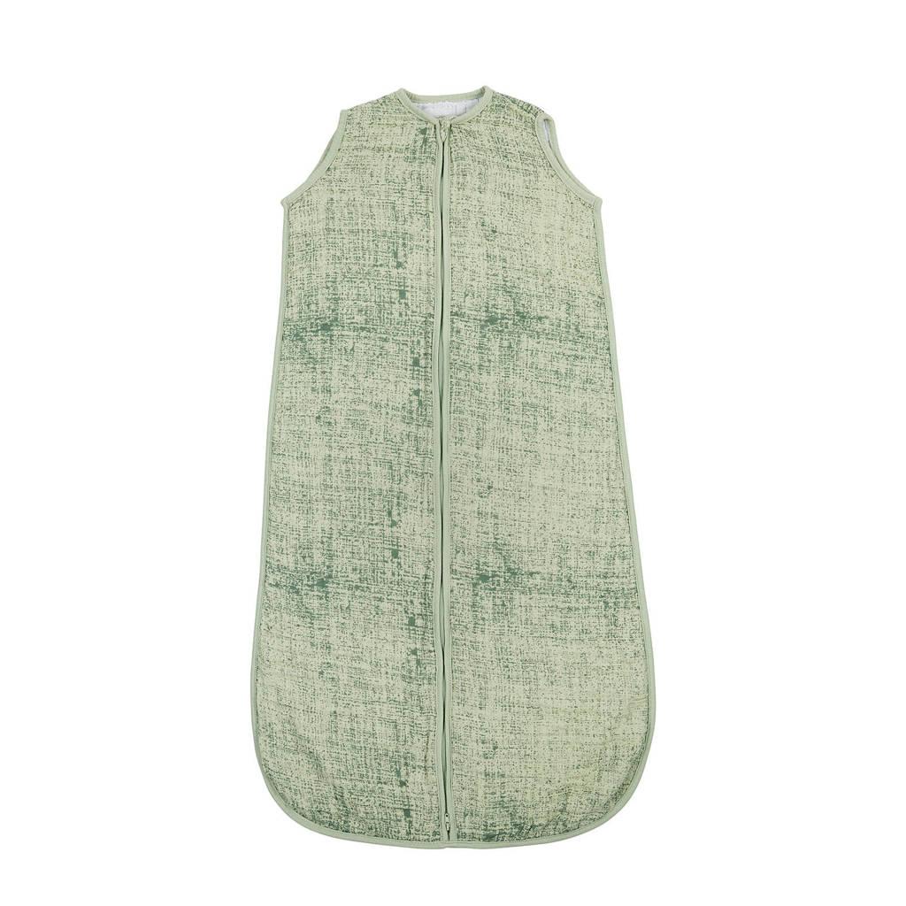 Meyco Fine lines hydrofiele baby slaapzak 90 cm groen, Groen