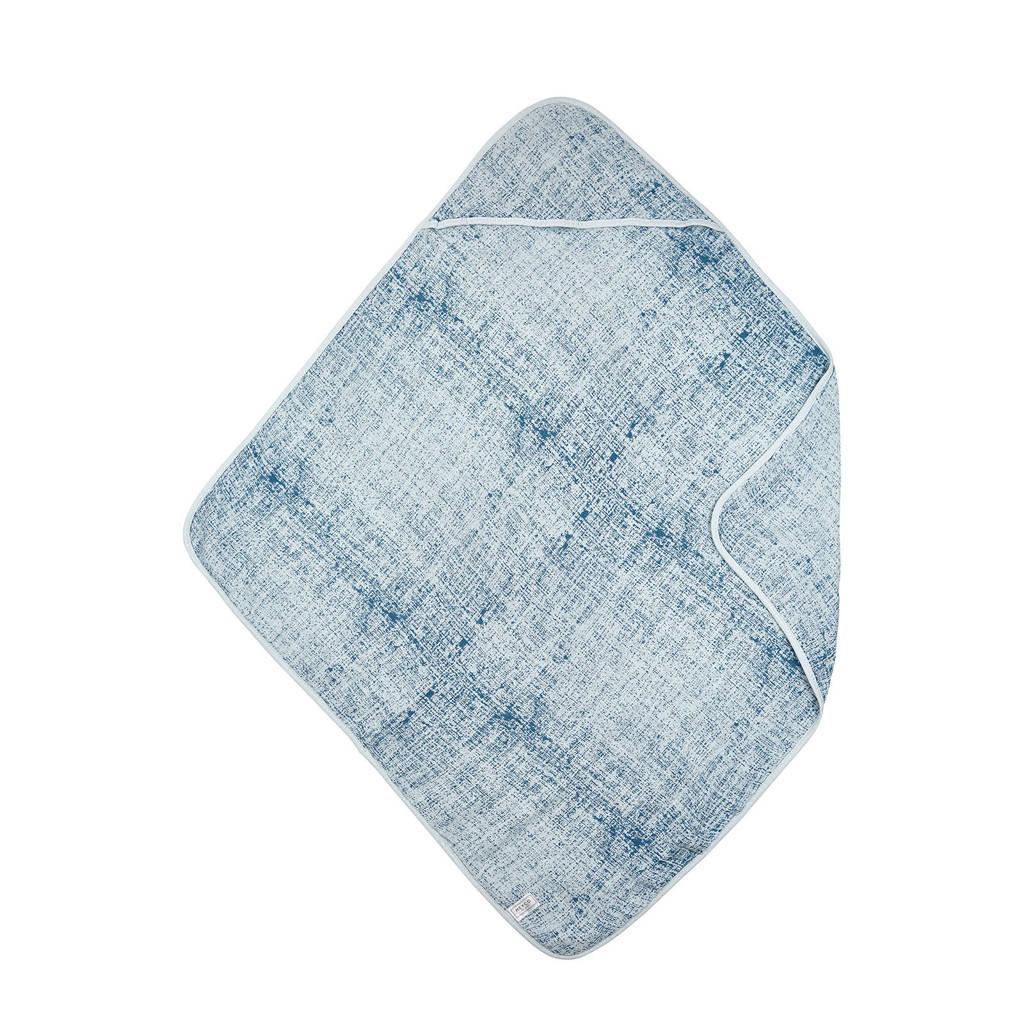 Meyco hydrofiel badcape fine lines blauw, Blauw