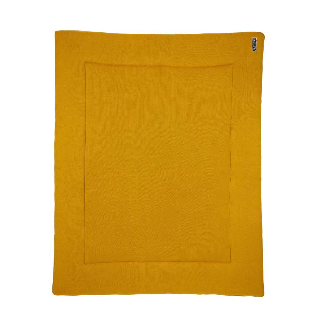 Meyco Knit Basic boxkleed 77x97 cm okergeel, Okergeel