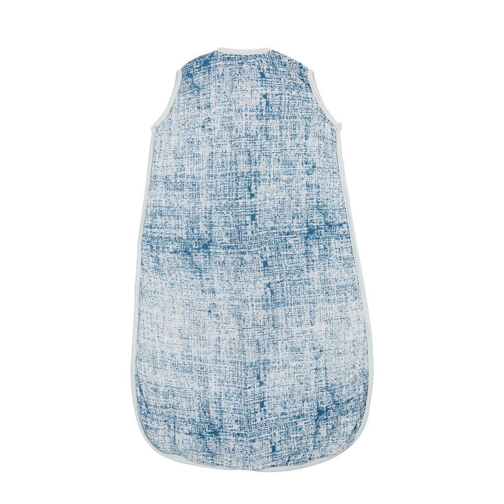 Meyco Fine lines hydrofiele baby slaapzak 90 cm blauw, Blauw