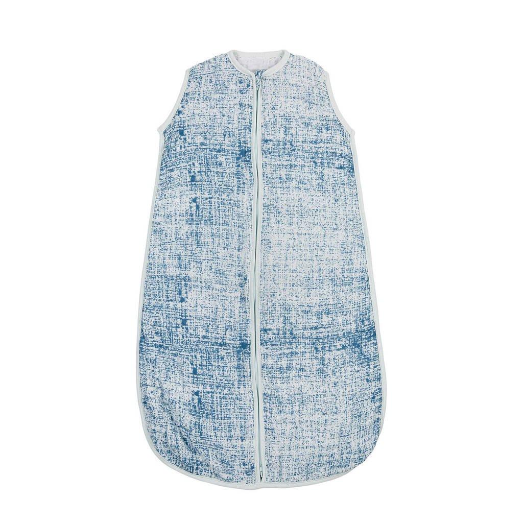 Meyco Fine lines hydrofiele baby slaapzak 110 cm blauw, Blauw