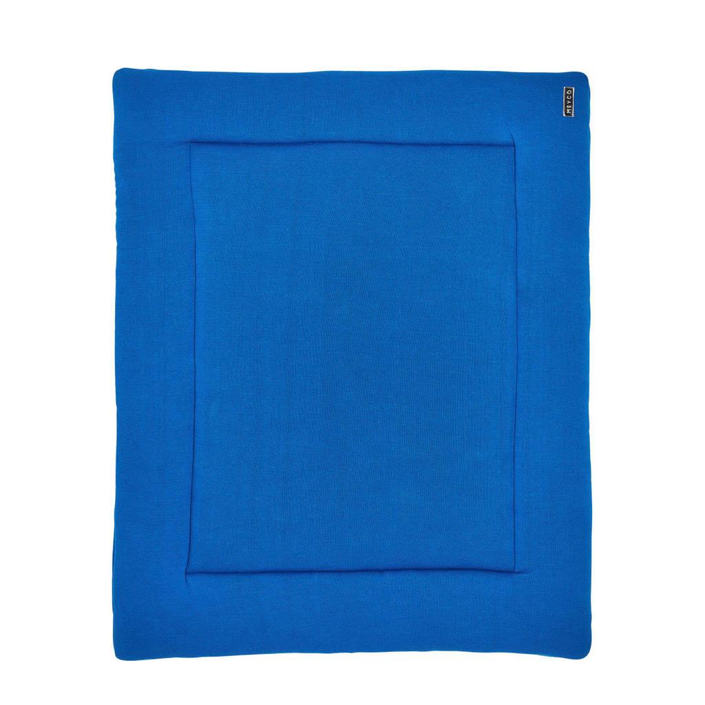 Meyco Knit Basic boxkleed 77x97 cm bright blue, Bright Blue